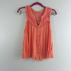 Anthropologie Coral Tank Top